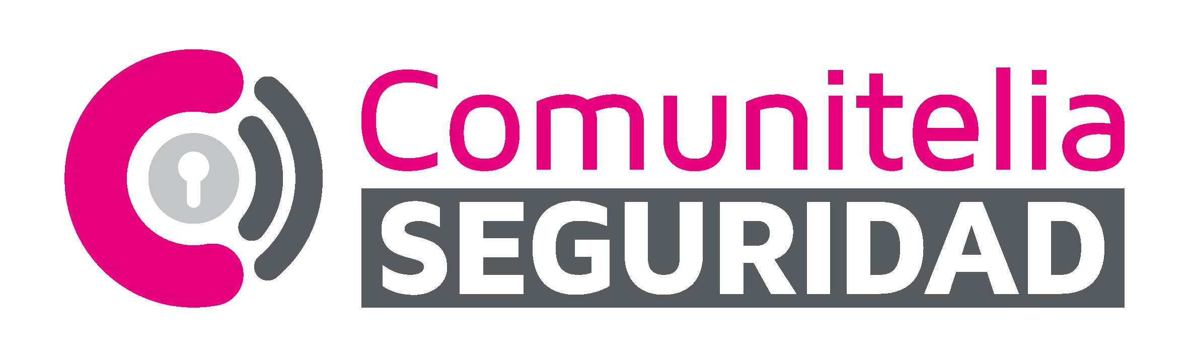 Logo Vectorizado Comunitelia Seguridad con nombre de empresa